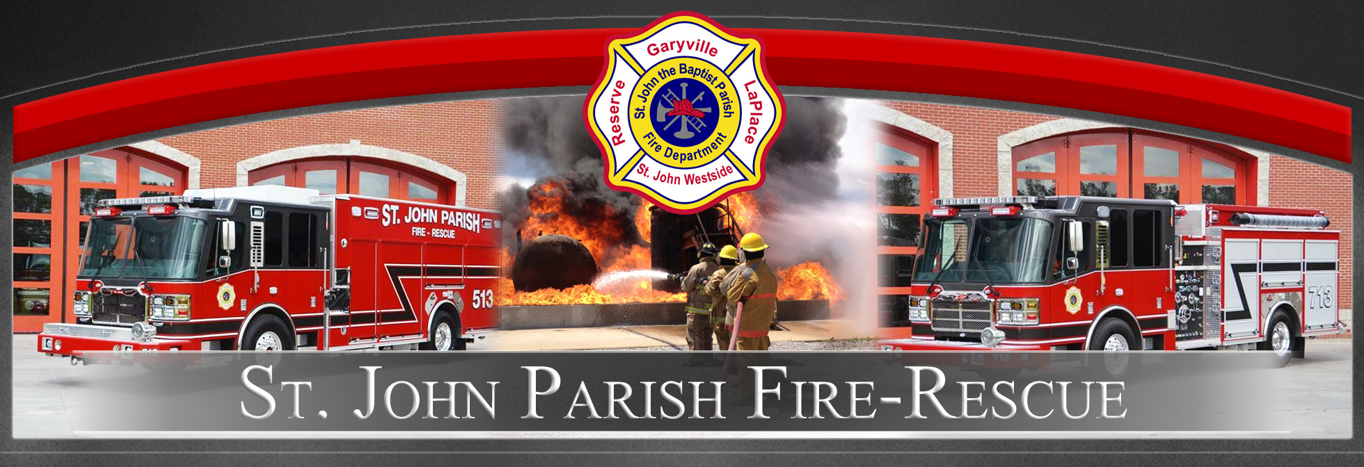 St. John the Baptist Parish Office of Fire Services Logo